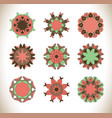 mandala hand drawn background vector image vector image