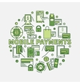 Mobile payments circular sign vector image vector image
