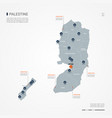 palestine infographic map vector image vector image