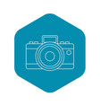 photocamera icon outline style vector image vector image