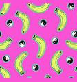 pink seamless banana pattern vector image vector image