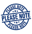 please note blue round grunge stamp vector image vector image
