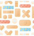 seamless pattern with realistic medical plaster