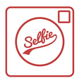 Selfie Camera Icon Isolated vector image vector image