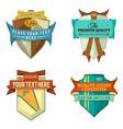 set logo retro ribbon labels and vintage vector image vector image
