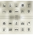 Set of city icons vector image vector image