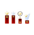 set of star trophies vector image