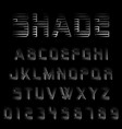 shade alphabet font template vector image vector image