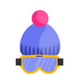 skiing snowboarding mask goggles eyewear and vector image vector image