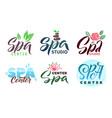 spa studio logo set stroke vector image vector image