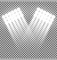 spotlight glow effect light beams white color vector image