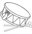Toy drum vector image vector image
