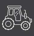 tractor line icon transport and vehicle vector image vector image