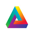 triangle logo isometric infinity sharp corner vector image