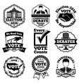 Vote and election labels set vector image
