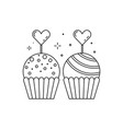 wedding candy bar sweets icon in line art vector image vector image