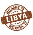 welcome to libya brown round vintage stamp vector image vector image