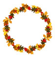 wreath from autumn leaves vector image vector image