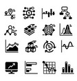 business diagram and graph icons set vector image