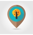 Fruit tree flat mapping pin icon vector image