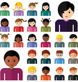 Set of avatar flat design icons vector image