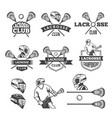 labels of lacrosse club monochrome vector image