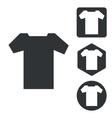 T-shirt icon set monochrome vector image