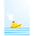 summer boat vector image