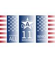 11 november veterans day banner vector image