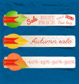 abstract autumn sale natural horizontal banners vector image vector image