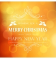 Abstract Christmas light background with retro vector image vector image