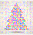 abstract colorful christmas tree of dots vector image