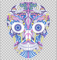 abstract floral skull vector image