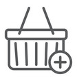 add to cart line icon e commerce and marketing vector image vector image