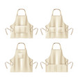 aprons with pockets vector image vector image