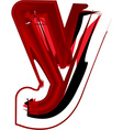 Artistic font letter y vector image vector image
