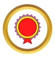 Award rosette icon cartoon style vector image