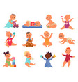 baby play with toys children toy child playing vector image