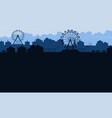 background amusement park beauty scenery vector image vector image