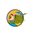 Basilisk Bat Wing Circle Cartoon vector image vector image