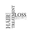 best hair loss treatment text word cloud concept vector image vector image