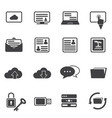 big data icon set cloud computing vector image vector image