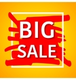 Big sale poster for your vector image vector image