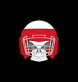 boxing logo sports emblem skull and boxing gloves vector image vector image
