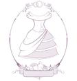 Bride wedding dress in frame vector image vector image