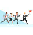 business people running workers managers male vector image vector image