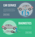 car diagnostics and repair services flyers vector image vector image