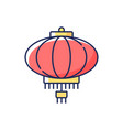 chinese lantern rgb color icon vector image