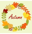 Colorful autumnal leaves frame or wreath vector image