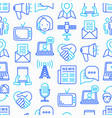 communication seamless pattern with thin line icon vector image